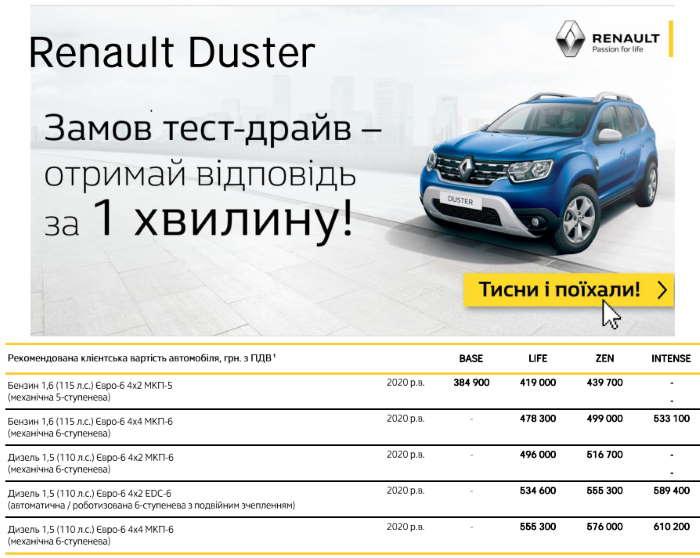 Рено Дастер новый кузов комплектации и цены